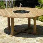 Vrtne mize, uporaben okras okolice doma